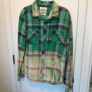 L - Aeropostale - Distressed Flannel